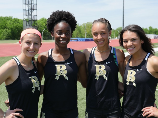 Girls relay team looking to be pushed to state title, school record