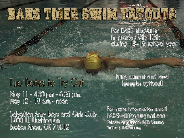 BAHS Tiger Swim Tryouts