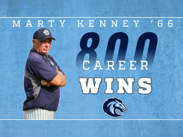Marty Kenney '66 Reaches 800 Wins with CBA Baseball