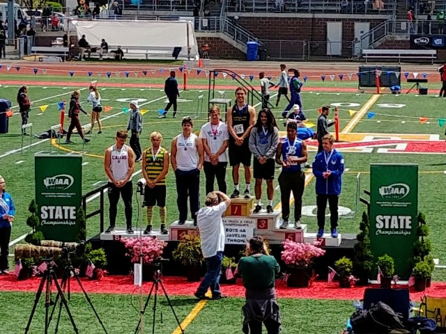 Connery McLaughlin wins State Javelin!