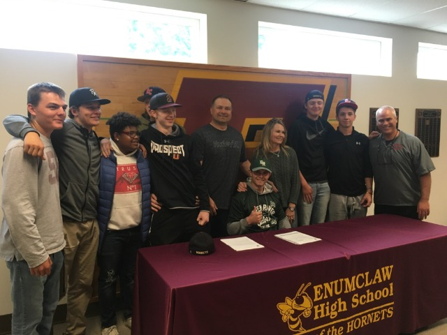 Tyler Miller signs to play baseball at Green River