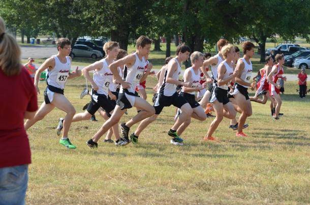 Sr. Boys Cross Country Runners