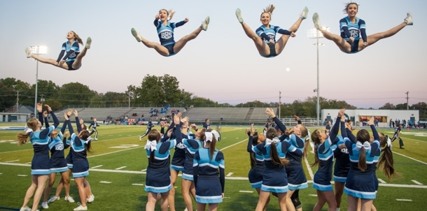 Cheer Flys High on Friday Night