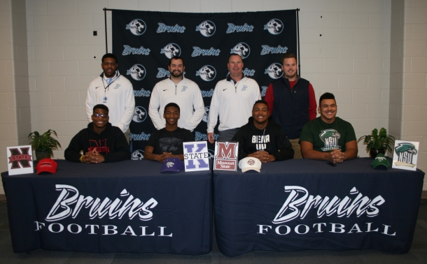 Bruin Football Signs Four on National Signing Day!
