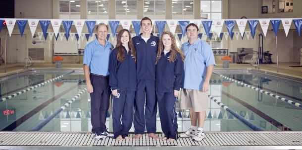 2014 Senior Swimmers With Coaches