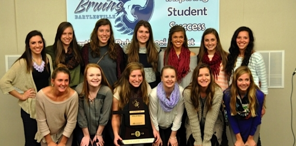 Bruin Volleyball Honored at Board Meeting