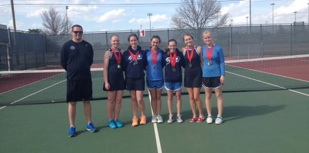 Girls Varsity Tennis Win Claremore Invitational!