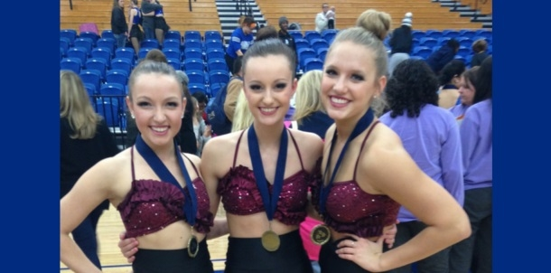 Trio Takes 2nd in State Pom Championships!