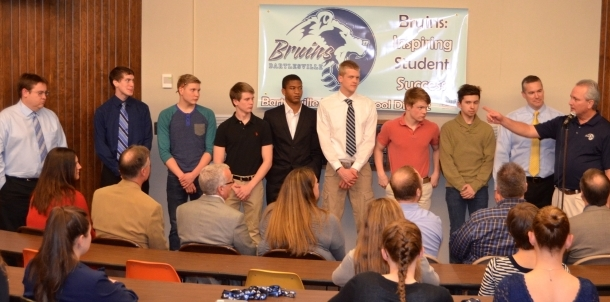 2015 6A State Runner Up Swimmers Honored at Board Meeting