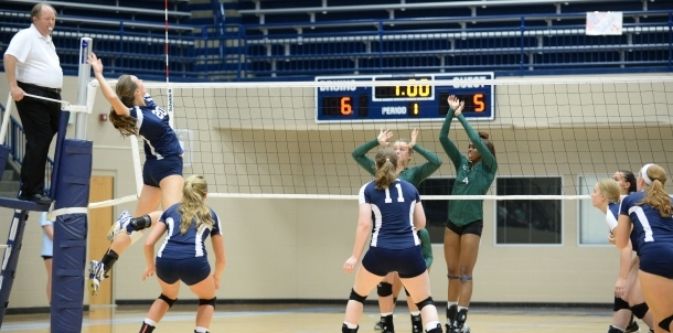 Senior Roni Courtney Rises to the Spike!