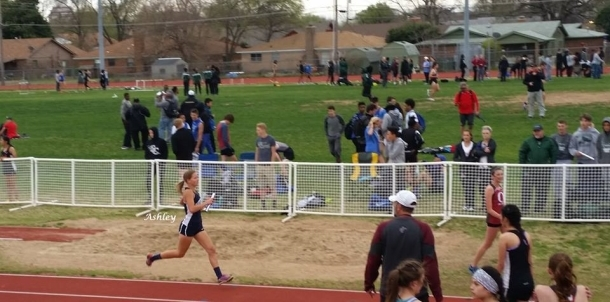 Barnes in one of the legs of the 800m relay!