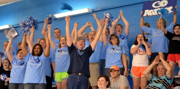 Bruin Faithful Cheer on their Bruin Swimmers!