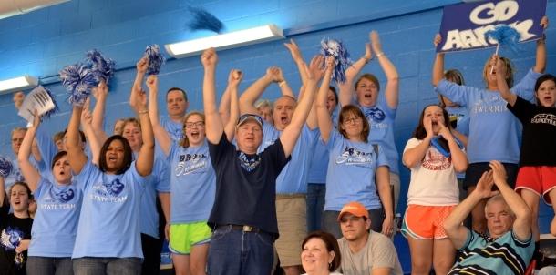 Bruin Faithful Cheer on their Bruin Swimmers!