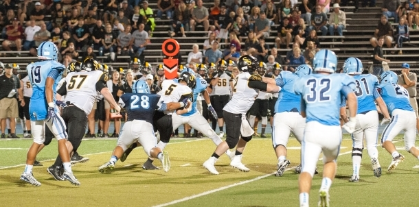 Bruin Defense Held Sand Springs Offense in Check!