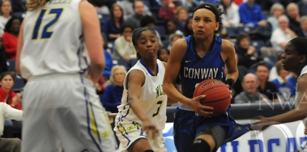 Lady Cat Lex Tolefree sets a school single game scoring record with 45 points on Nov. 24 at Cabot