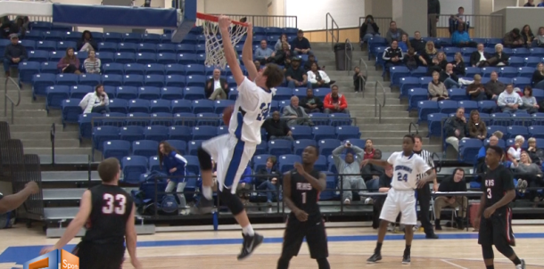 Senior John Nekonchuk gave the Wampus Cats a lift with this big dunk against Russellville