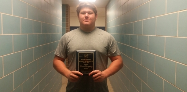 Creed Humphrey - Male Athlete of the Month (August)