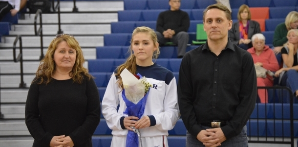 Hannah on Senior Night