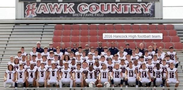 2016 Hancock Varsity Football