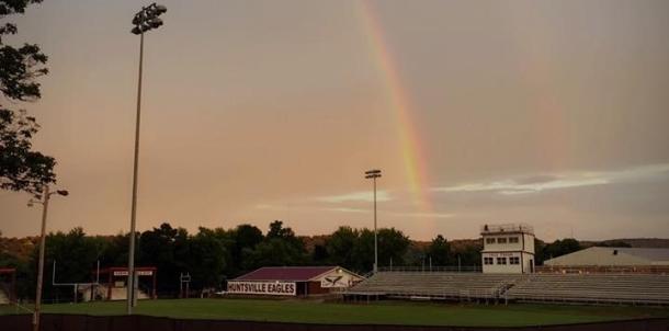 Beautiful sight over Eagle Stadium!