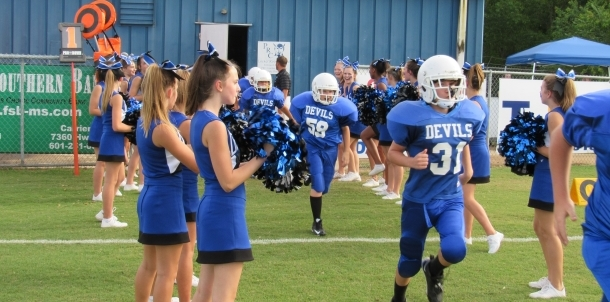 JH Blue Devils Take the Field In Home Opener!!