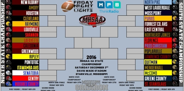 2016 4A Football Playoff Bracket