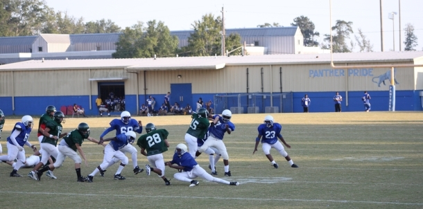 Junior High Football Action