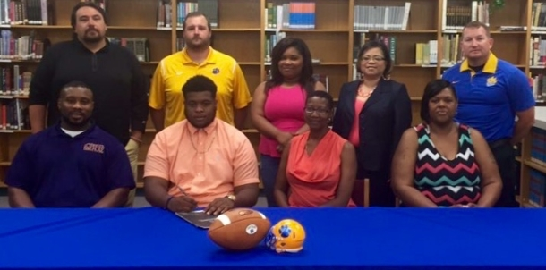 Panther Football Player Signs with East Central Community College