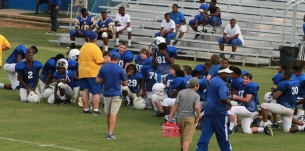 Coach Blackburn Giving Instructions