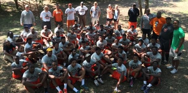 Douglass Football Team Builds!