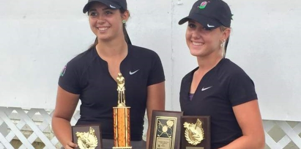 Emma Kieffer and Hadley Walts medaled with a 2 under par 70