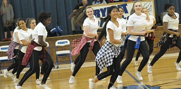 Freshman dance team performs