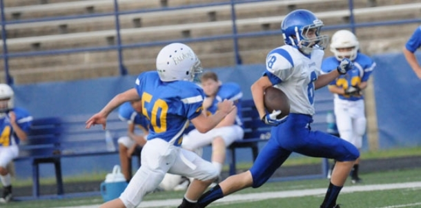 Bryant Blue makes quick work of Falcons in eighth grade opener
