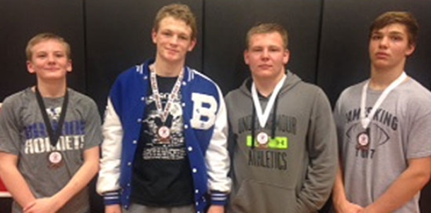 BHS wrestlers compete well at Maumelle