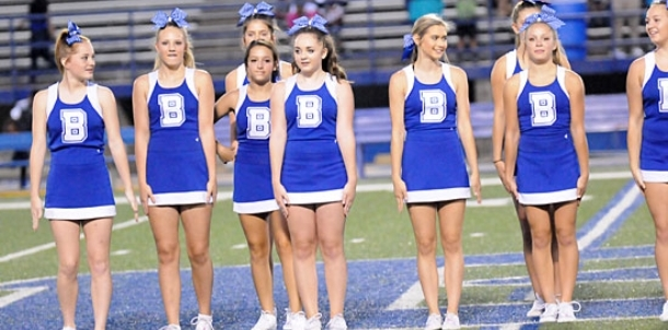 Bethel eighth grade dance, cheer entertain at half