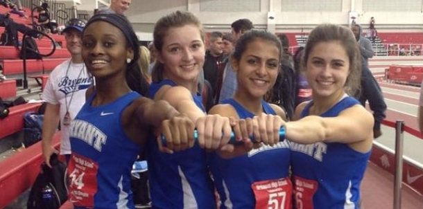Lady Hornets' 4 x 400 relay sets new school record at indoor