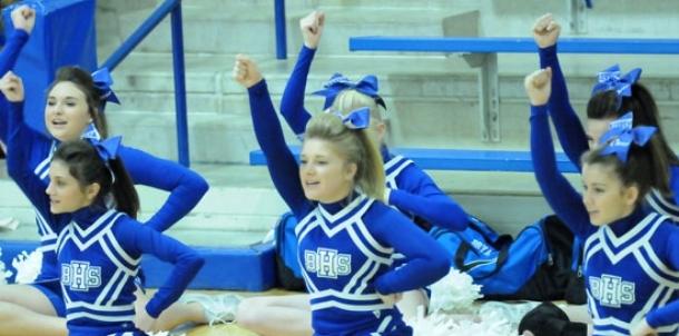 Freshmen dance, cheer