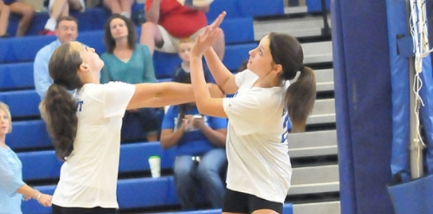 Blue, White seventh grade B teams split pair of sets