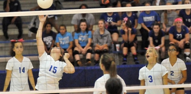 Seventh-grade volleyball: Bryant White vs. Anthony School