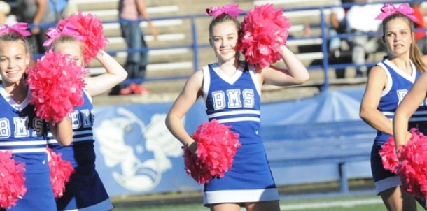 Bethel eighth grade spirit squads perform
