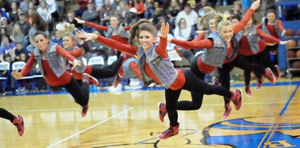 Varsity dance team performance