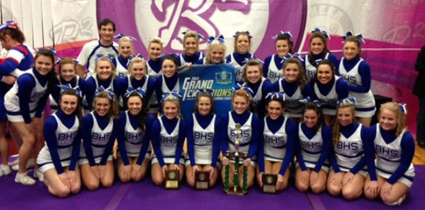 BHS cheer squad shines at Spa City competition