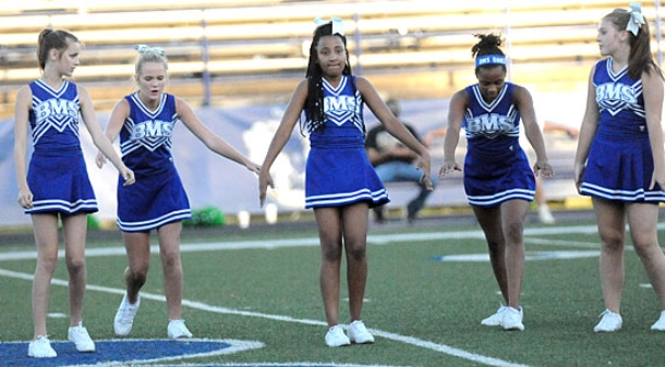 Bryant Middle School dance, cheer perform