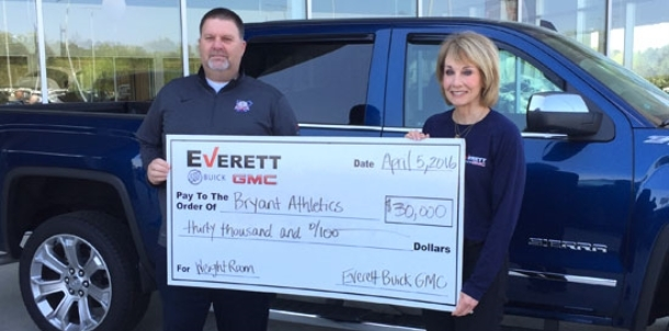 Donation from Everett Buick GMC to upgrade BHS weight room