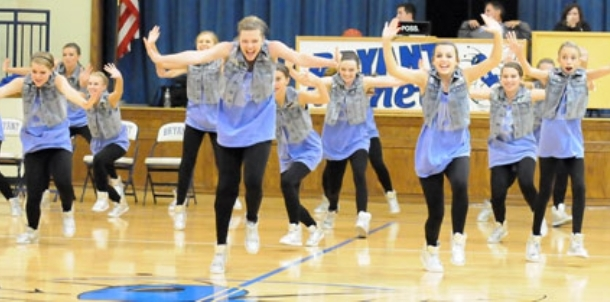 Freshman dance team performance