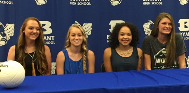 Bryant volleyball produces four college signees