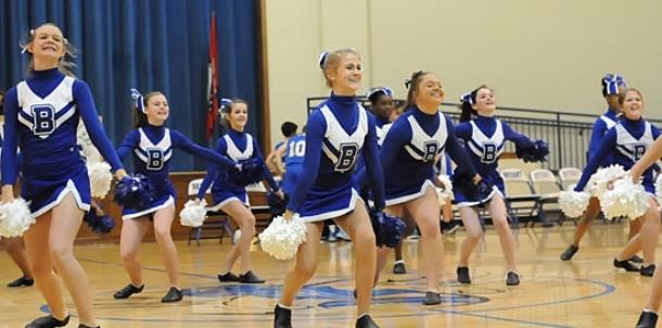 Bryant Middle School seventh grade dance, cheer
