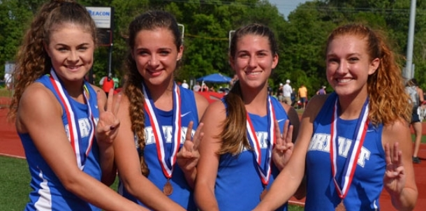 Lady Hornets pick up Meet of Champs medals in four events