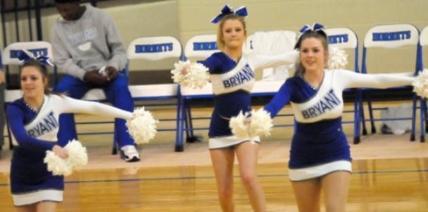 Freshman dance, cheer squads entertain at half