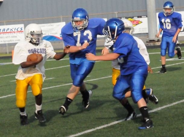 Bryant White wins seventh grade game against Junior Wolves
